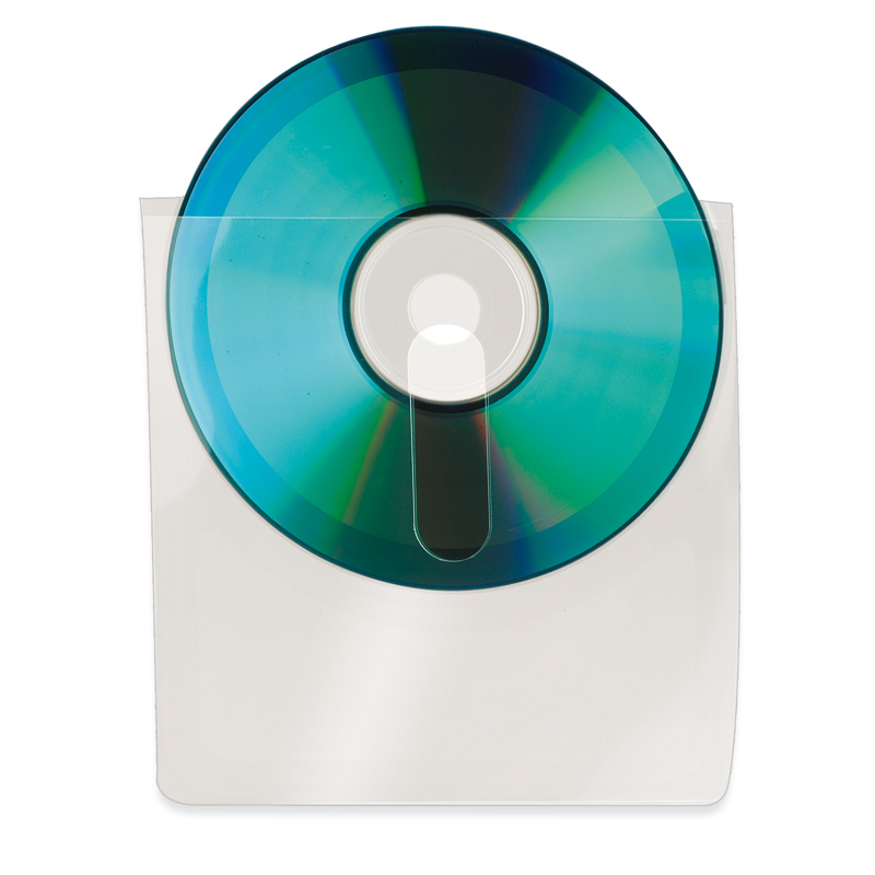 Self-Adhesive CD/DVD Pockets with Finger Hole