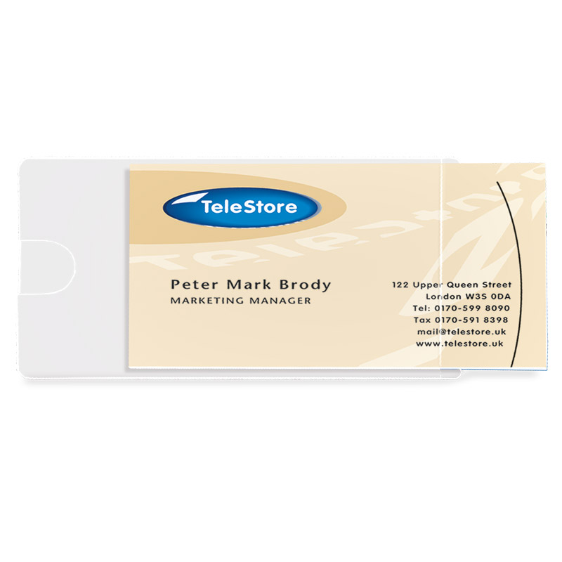 Self-Adhesive Business Card Pockets - Side Load