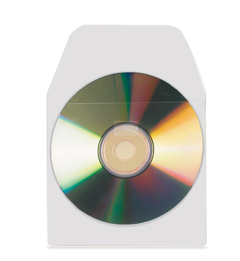 Self-Adhesive CD/DVD Pockets with Flap